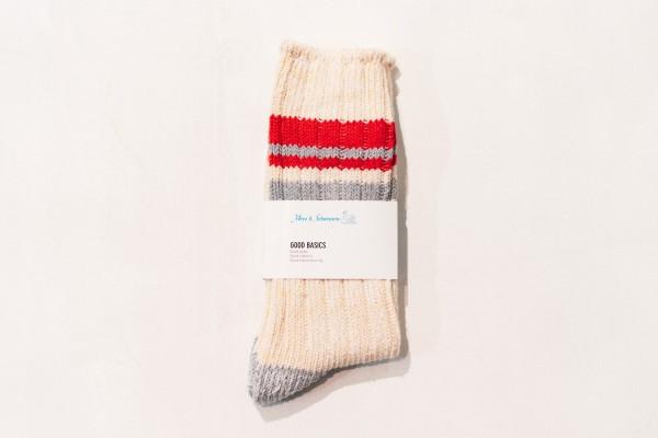 Merz b. Schwanen GS02 Cotton Socks Nature Red One Size / 39-42 GS02.0231