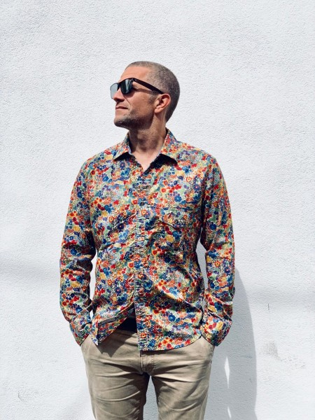 Scarti Lab Cotton Shirt Flower Multi