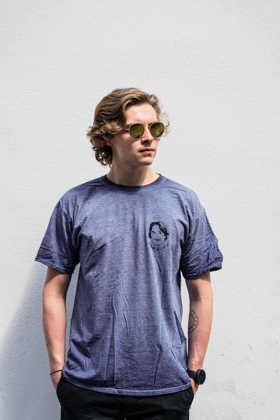 Arnold's Arnie T-Shirt Navy Washed ss20