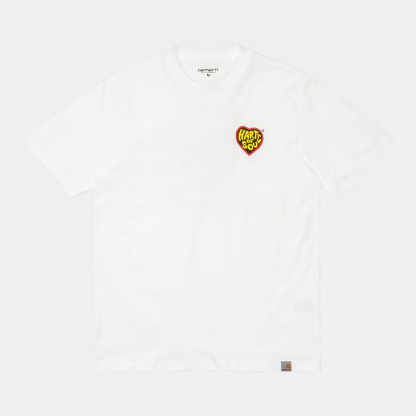 Carhartt WIP S S Hartt Of Soul T-Shirt White Herren I029036_02_00