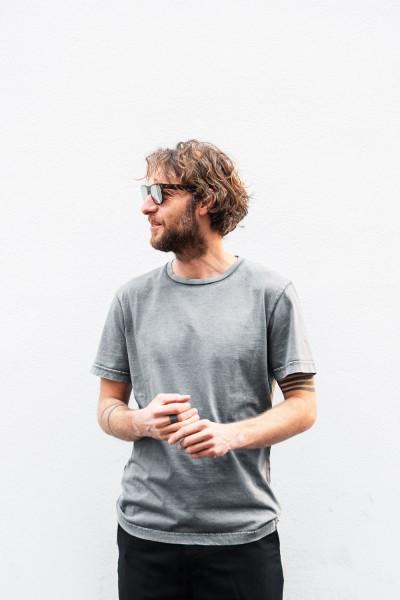 Crossley HUNTC Man S/S T-Shirt Grey