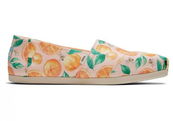 TOMS Womens Pale Pink Sunkissed Oranges Alpargata 10016253