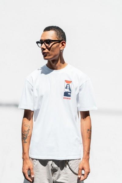 Edwin Cloudy T-Shirt Cotton White Garment Washed