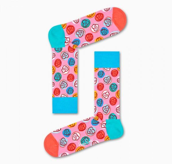 Happy Socks Women's Sweet Hearts Sock Pink 36-40 SHS01-3300