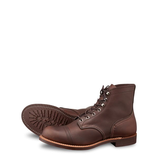 RED WING IRON RANGER 8111 AMBER HARNESS VIBRAM