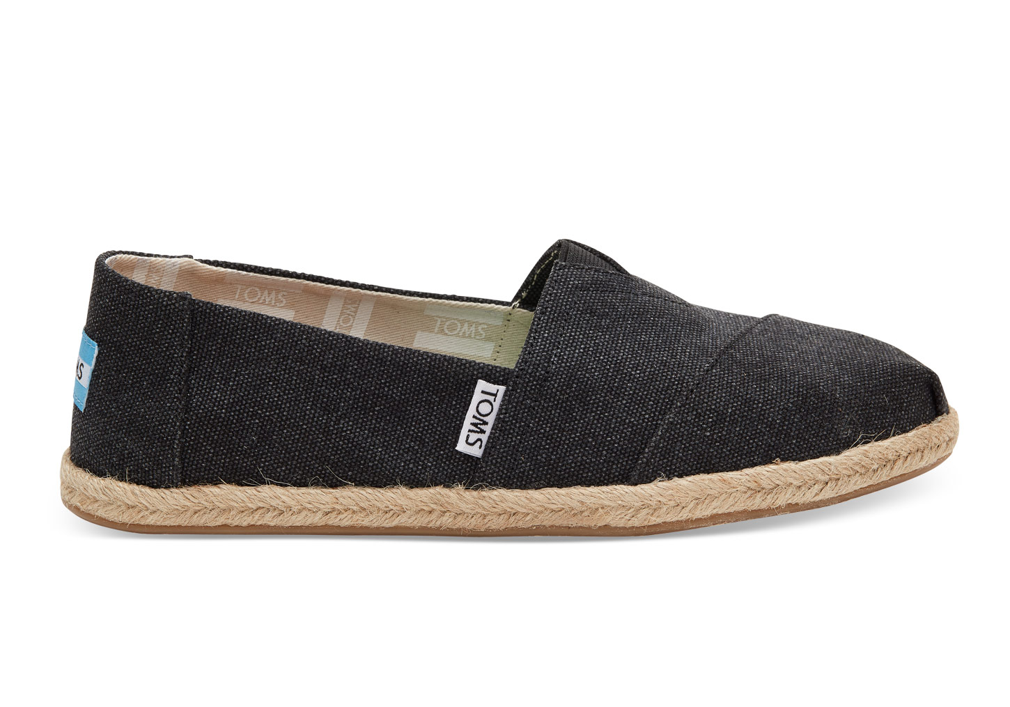 TOMS Womens Black Washed Canvas