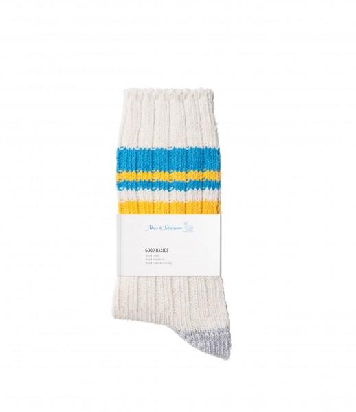 Merz b. Schwanen GS02 Cotton Socks Nature Sky One Size  39-42