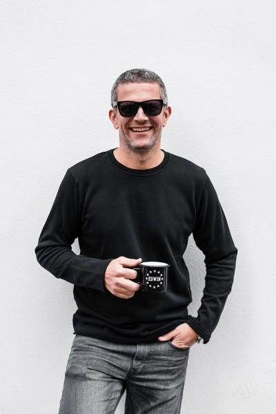 Edwin Terry Long Sleeve Tee Black Garment Washed i024986,89,67
