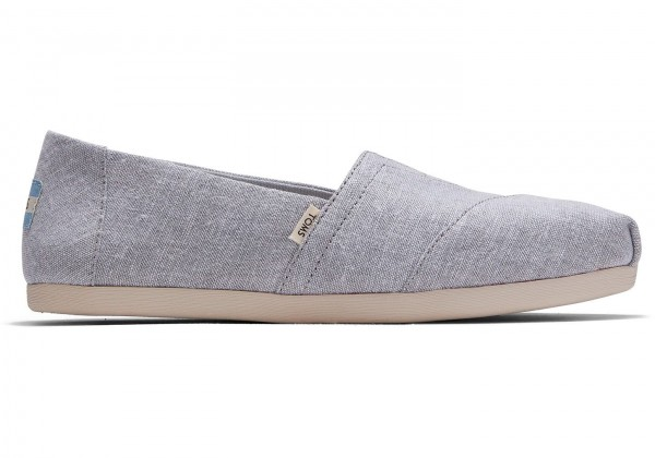 TOMS Womens Grey Chambray Classic 10015075