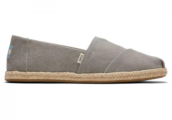 TOMS Womens Drizzle Grey Slubby Woven 10016260