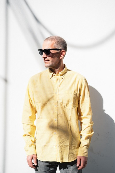 Norse Projects Osvald BD Cotton Linen Sunwashed Yellow N40-0551 8056