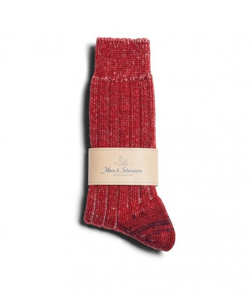 Merz b. Schwanen S72 Wool Socks red natmel. S72.3102