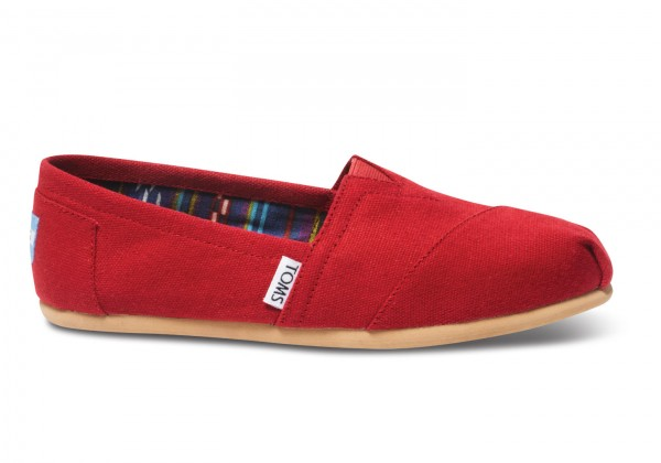 TOMS Womens Red Canvas