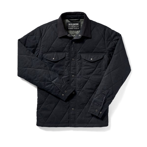 Filson Hyder Quilted Jacket Shirt Faded Navy 20019390