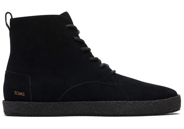 TOMS Mens Teton Boot Black Suede 10016928